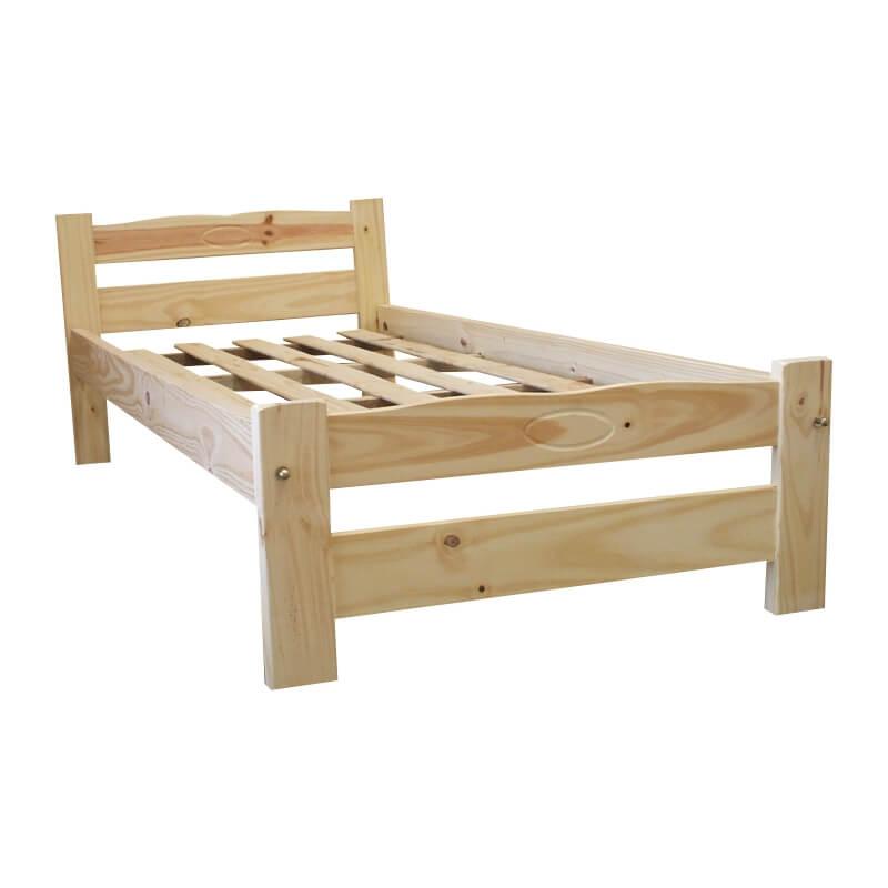 Cama 1 plaza linea econ mica camas de pino for Camas en madera economicas