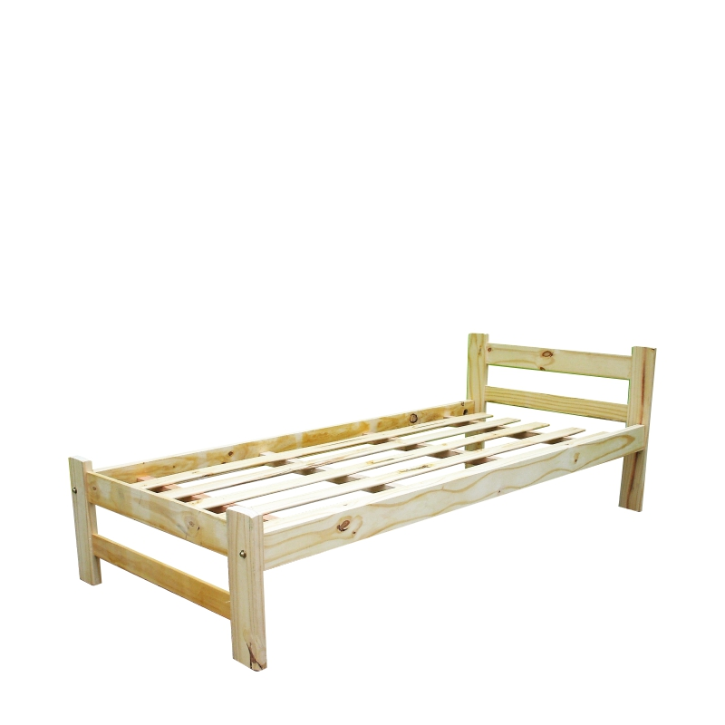 Cama 1 plaza linea recta camas de pino for Camas de 1 plaza baratas